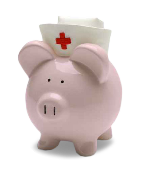 Piggybank with Red Cross Hat Image