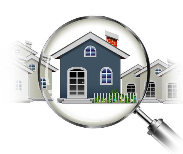 House Under Magnifying Glass Image