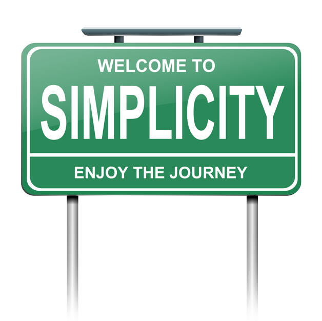 Sign Image - Welcome to Simplicity - Enjoy the Journey