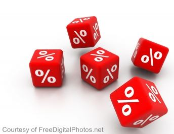 red percentage dice
