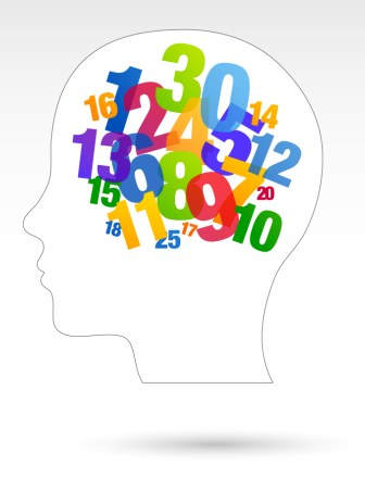person thinking about numbers